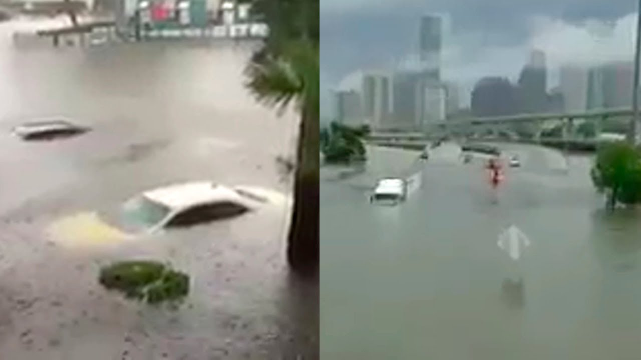 Houston Texas sufre una de las peores inundaciones por Harvey